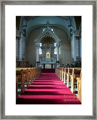 Basilica Of Saint Stanislaus Kostka Interior Center Framed Print