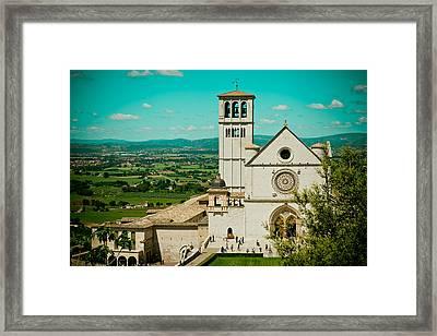Basilica Of San Francesco Assisi  Framed Print by Raimond Klavins