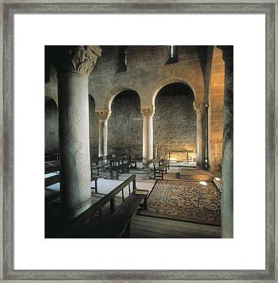 Basilica Of San Juan De Ba�os. 7th C Framed Print by Everett