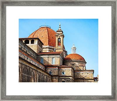 Basilica Of San Lorenzo Framed Print by David Waldo