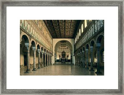 Basilica Of Santapollinare Nuovo. 6th Framed Print
