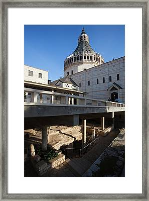 Basilica Of The Annunciation, Nazareth Framed Print