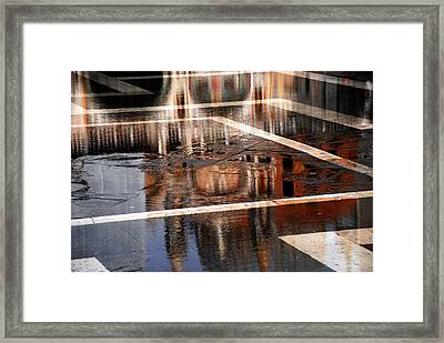 Basilica San Marco Reflection Framed Print by Jacqueline M Lewis