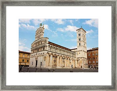 Basilica San Michele In Foro In Lucca Italy Framed Print