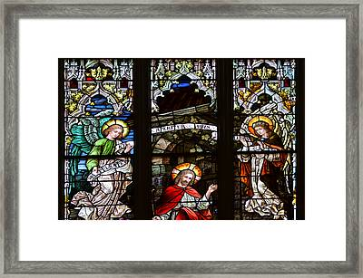Basilica Stained Glass 1 Framed Print by Angelina Vick