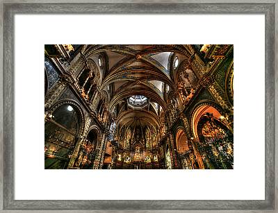Basilica The Montserrat Framed Print by Isaac Silman