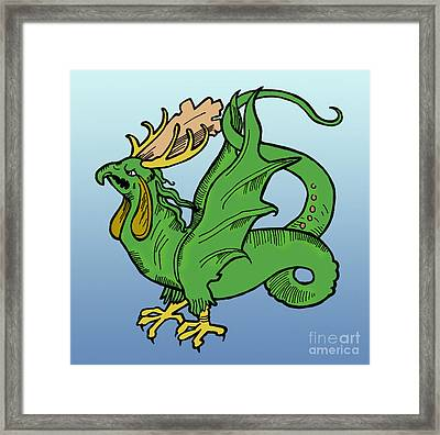 Basilisk, Legendary Creature Framed Print