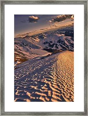 Basin From Above Framed Print by Mike Berenson