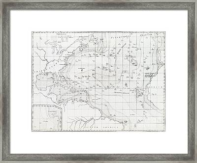 Basin Of The North Atlantic Ocean, 1854 Framed Print by General Research Division