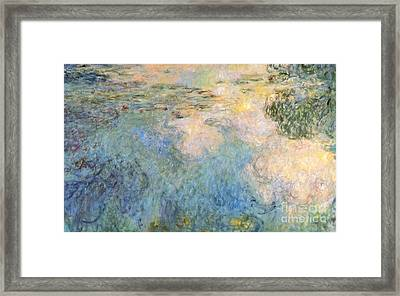 Basin Of Water Lilies Framed Print by Claude Monet