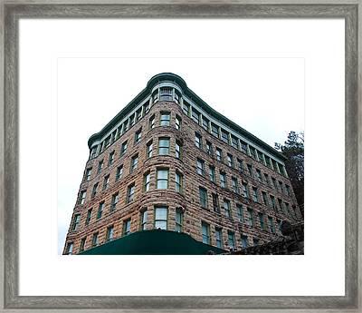 Basin Park Hotel Framed Print by David Waldo