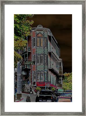 Basin Park Hotel Framed Print by Jan Amiss Photography