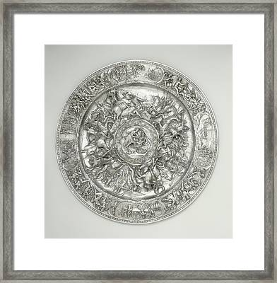 Basin With Scenes From The Life Of Cleopatra After A Sketch Framed Print by Litz Collection