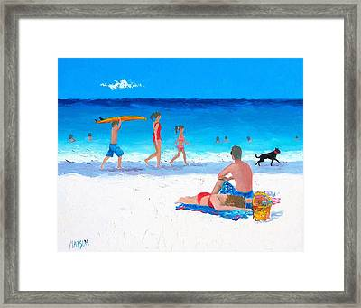 Bask In The Sunshine Framed Print by Jan Matson