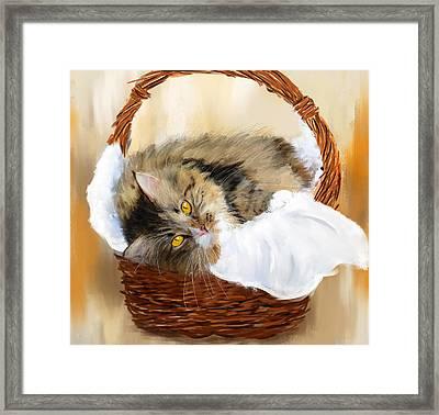 Basket Case Framed Print by Lourry Legarde