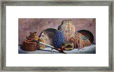 Basket Collection Framed Print