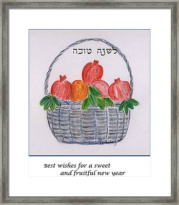 Basket For The New Year Framed Print
