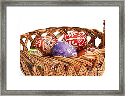 basket fulL of Ester Eggs Framed Print by Michal Boubin