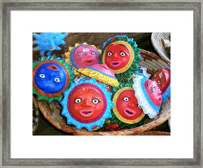 Basket Full Of Sunshine Framed Print by Karyn Robinson