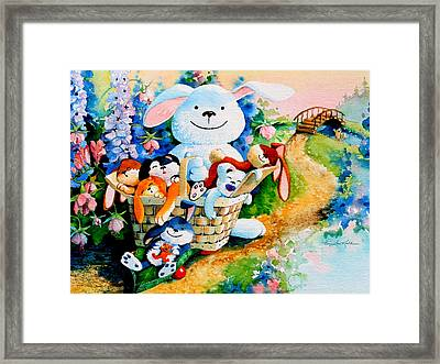 Basket Of Bunnies Framed Print
