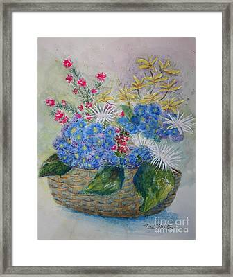 Basket Of Flowers Framed Print by Terri Maddin-Miller