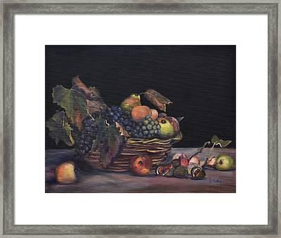 Basket Of Fruit Framed Print by Donna Tuten