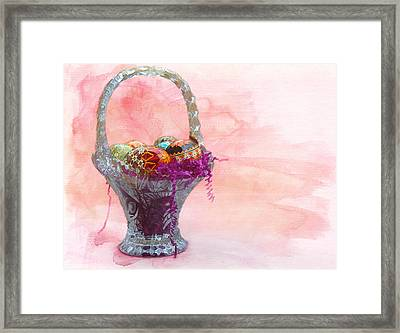 Basket Of Joy Framed Print