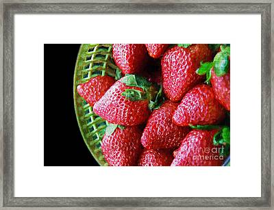 Basket Of Strawberries Framed Print by Andee Design