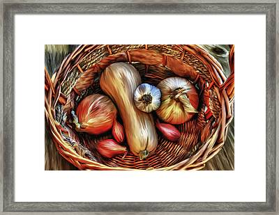 Basket Of Vegetables Framed Print