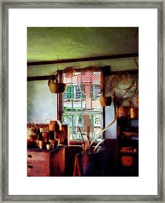 Framed Print featuring the photograph Basket Shop by Susan Savad