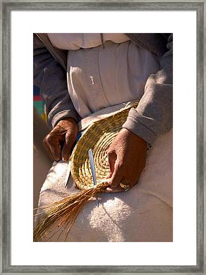 Basket Weaver Framed Print