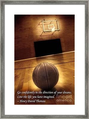 Basketball And Success Framed Print by Lane Erickson