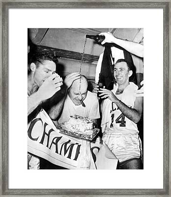 Basketball Champion Celtics Framed Print by Underwood Archives