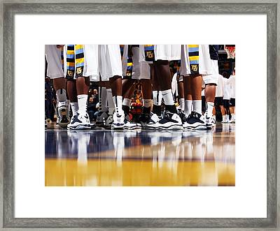 Basketball Court Reflections Framed Print by Replay Photos