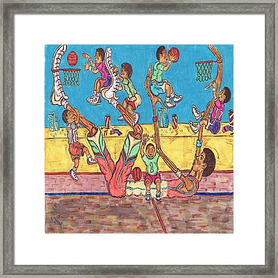 Basketball Daycare Framed Print
