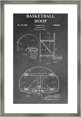 Basketball Goal Patent Framed Print