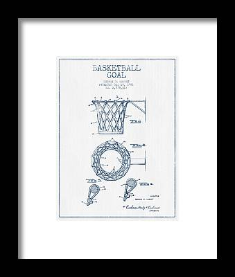 Basketball Goal Patent Framed Prints