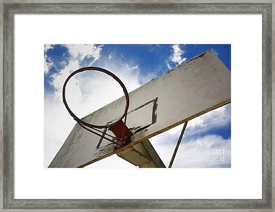 Basketball Hoop Framed Print