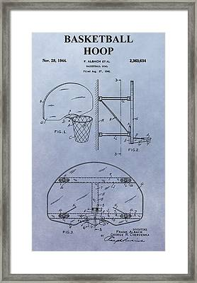 Basketball Hoop Framed Print