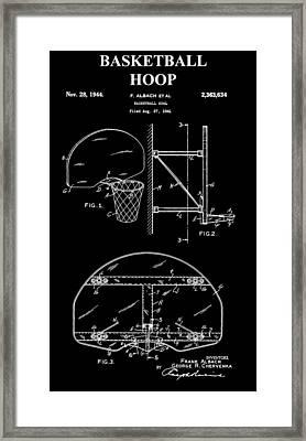 Basketball Hoop Patent Framed Print