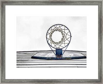 Basketball Hoop Framed Print by Sharon Meyer