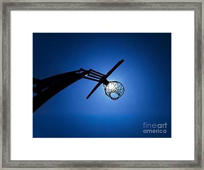 Basketball Hoop Silhouette Framed Print by Diane Diederich