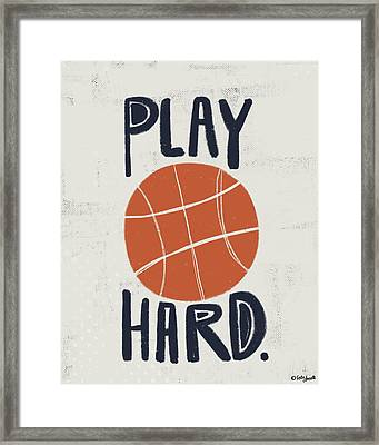 Basketball Framed Print by Katie Doucette