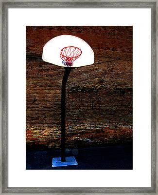 Basketball Framed Print by Lane Erickson