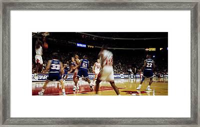 Basketball Match In Progress, Chicago Framed Print