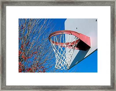 Basketball Net Framed Print by Valentino Visentini