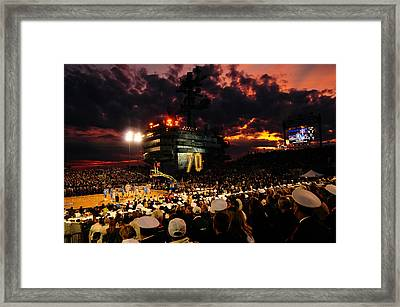 Basketball On A Carrier Framed Print by Mountain Dreams