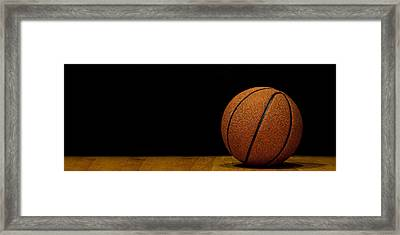 Basketball Panorama Framed Print