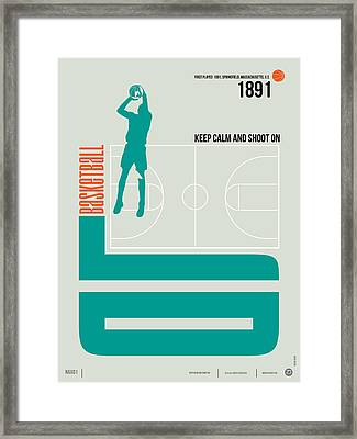Basketball Poster Framed Print by Naxart Studio