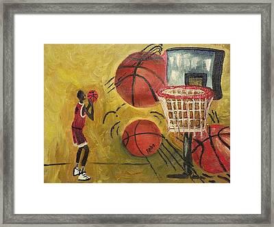 Basketball Framed Print by Reba Baptist